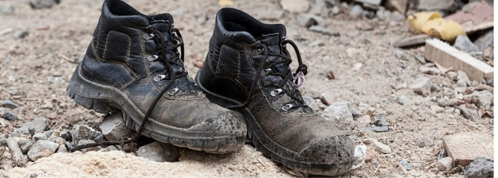 Shoes on the heavy construction areas