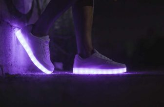 Gold light up shoes for kids